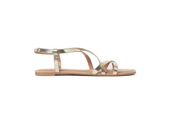 Sandalias doradas, H&M.