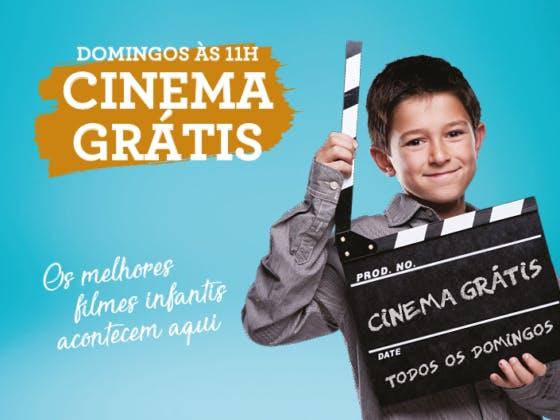 Cinema infantil grátis no seu centro