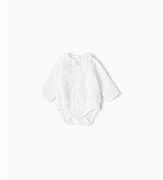 Body com gola, antes era a 12,95€ e agora é a 5,99€, na Zara Kids
