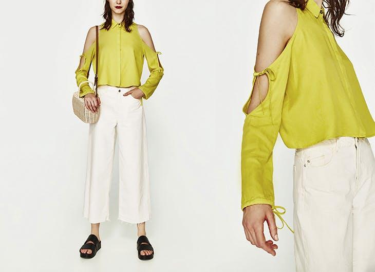 Estampadas, con volantes y asimétricas: así son las blusas de fiesta