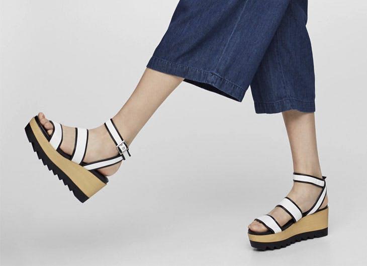 Las cuñas, las sandalias del verano