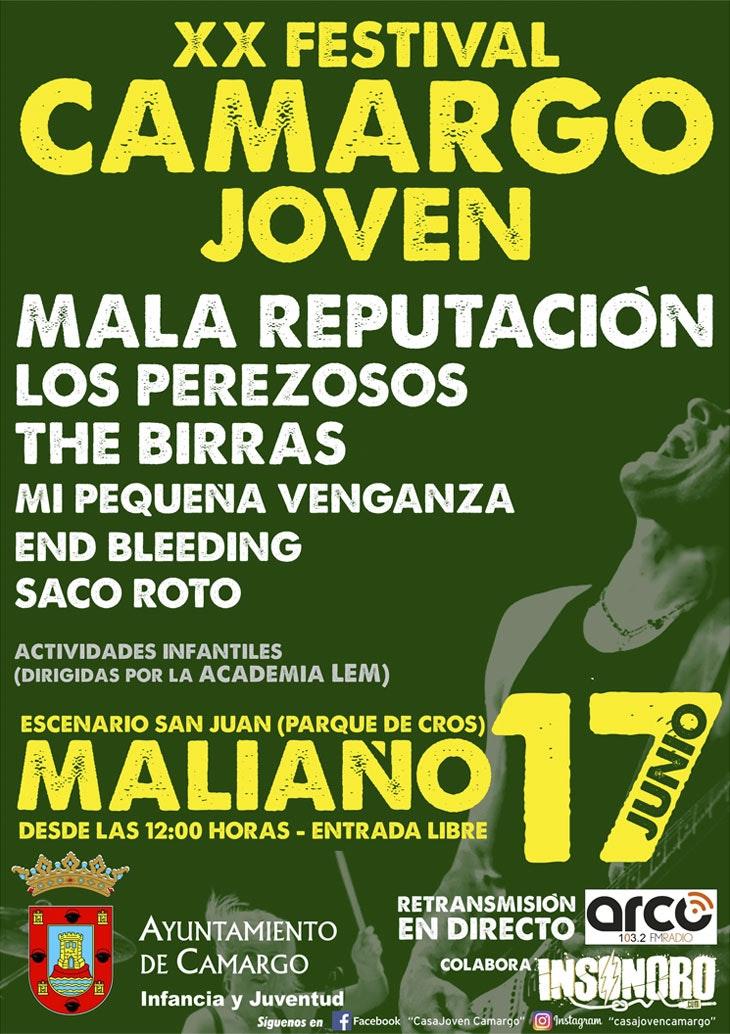 Mala Reputación, cabeza de cartel del 'XX Festival Camargo Joven'