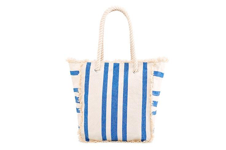 bolsa de playa estilo navy