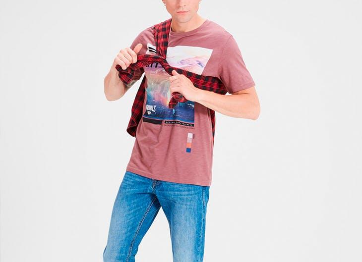 4 outfits con camisetas largas para él