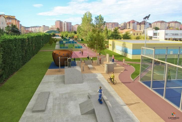 La nueva pista de skate del Parque de Cros está en marcha