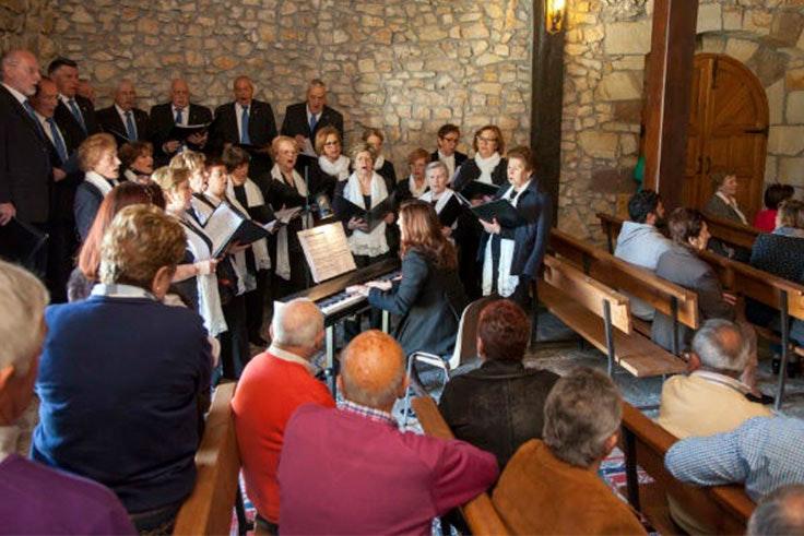 misa solemne en la ermita del santo