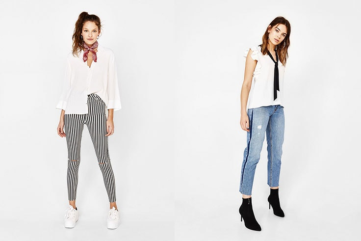 Bershka Camisas blancas