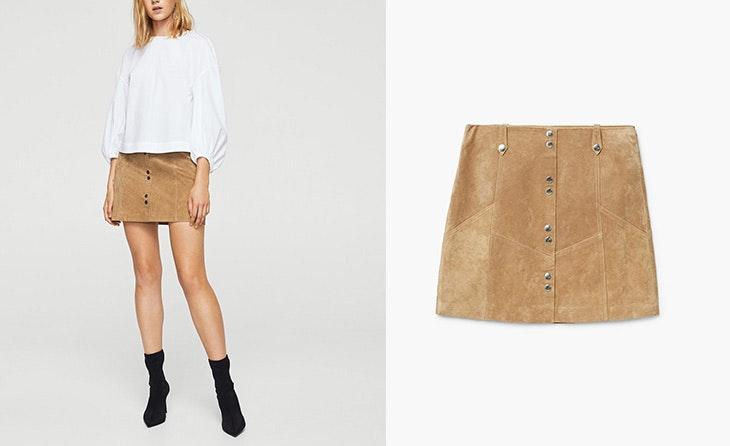 La falda de cuero nunca pasa de moda