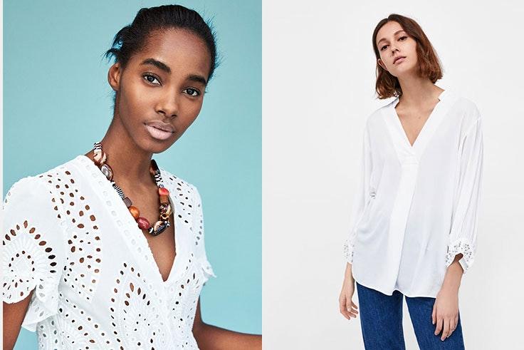 Zara Camisas blancas