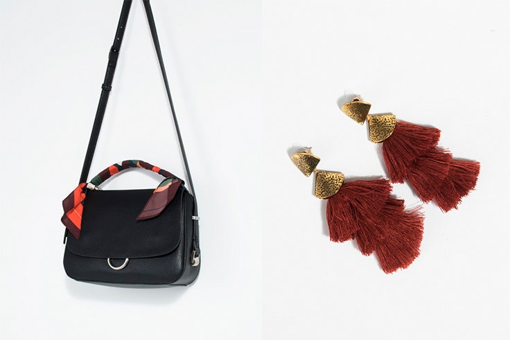 moda, otoño, bolso, pendientes