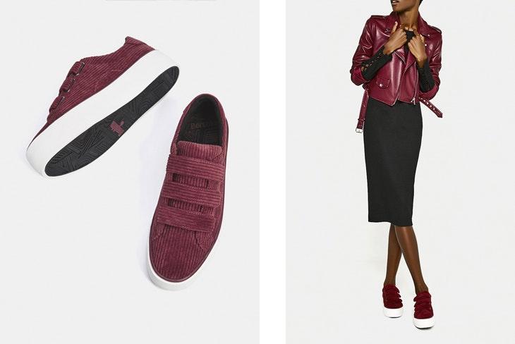 Las zapatillas también pueden ser para la oficina