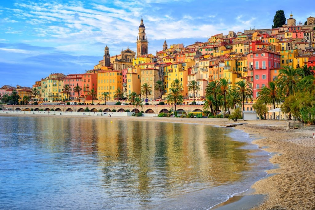 niza, francia, mar, edificios, ciudad