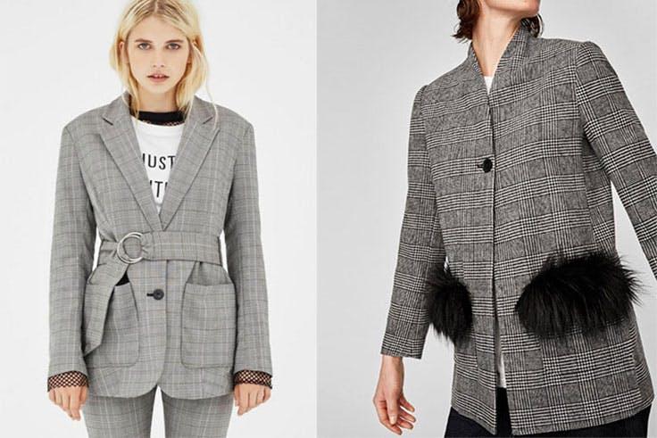 Blazer Bershka (29,99€) / Blazer Zara (49,95€)