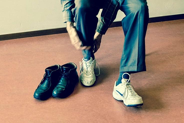 ejercicio, zapatillas, salud, deporte