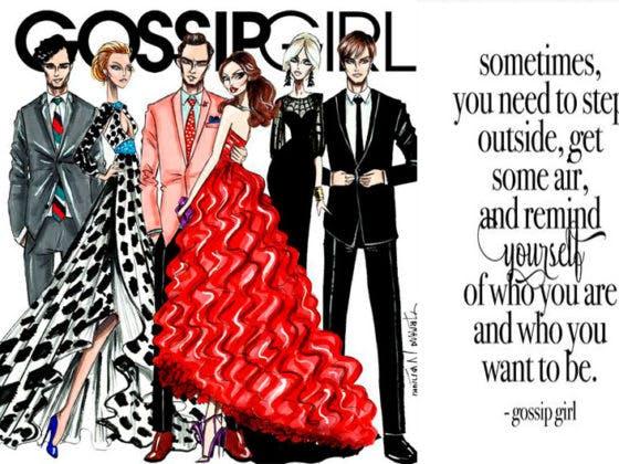 Cabecera de alguno de los looks de Gossip Girl.