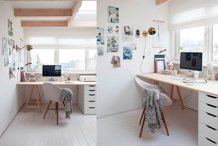trabajo, casa, oficina, decoración