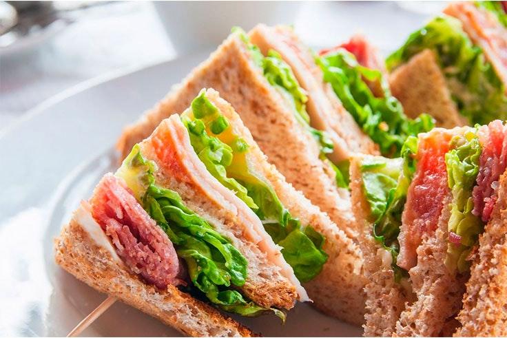 Sándwich vegetal.