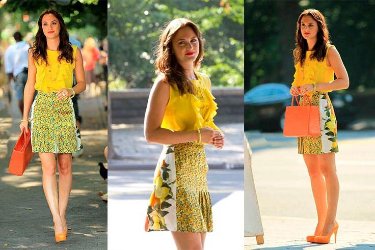 Conjunto de falda estampada de Stella McCartney.