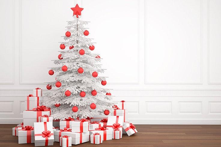 arbol blanco de navidad