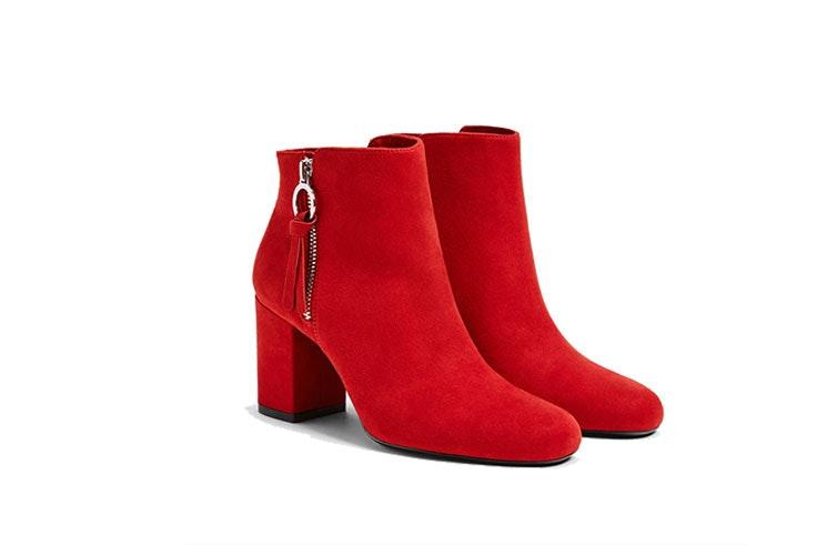 botines rojos mujer