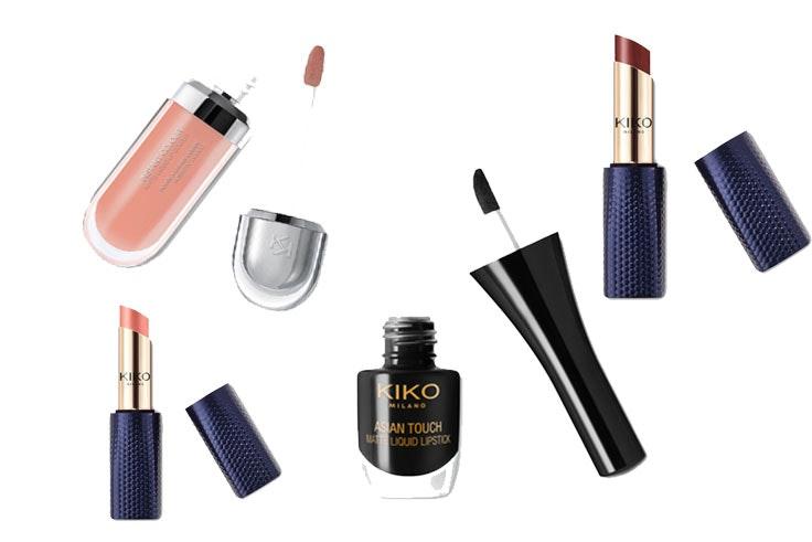 Gloss (7,95€) / Pintalabios rosa (9,95€) /Gloss negro (7,95€) / Pintalabios marrón (7,95€) /Kiko