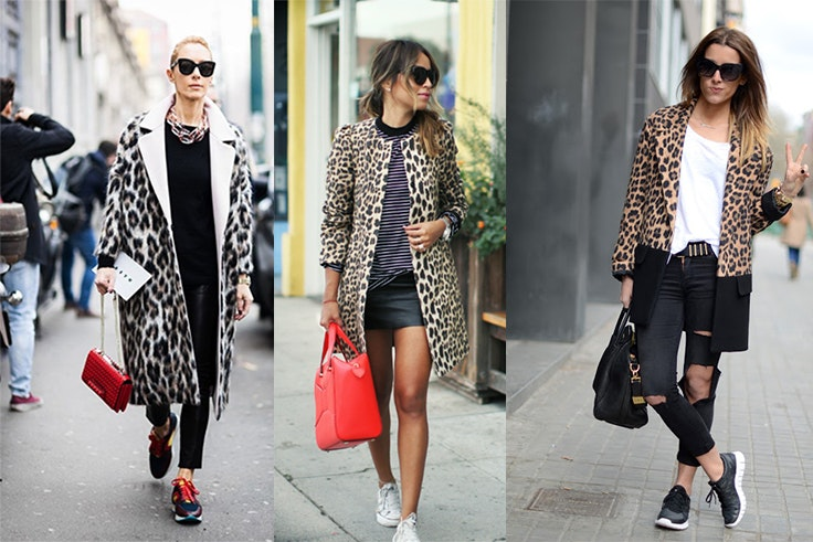 Animal print con sneakers