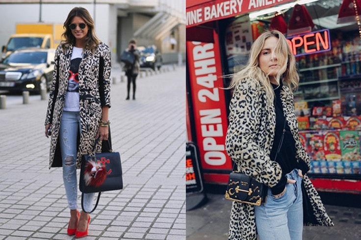 Outfit Urban con abrigo de animal print