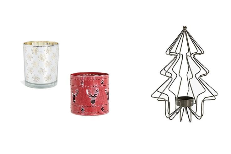 adornos de navidad para la mesa velas