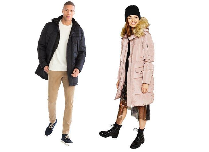 moda prendas invierno abrigos de plumas