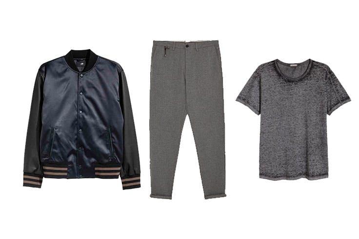 Bomber 14,99€ de H&M / Pantalón 12,99€ de Zara / Camiseta 7,49€ de H&M