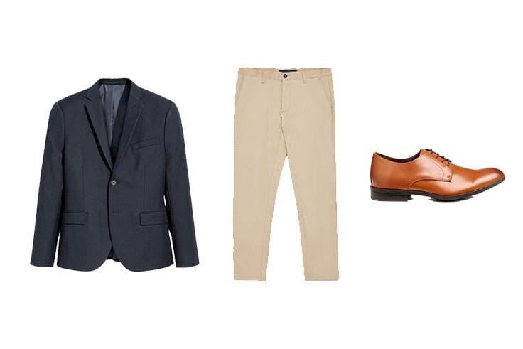 Americana 19,99€ de H&M / Pantalón 9,99€ de Zara / Zapatos 20,99€ de H&M