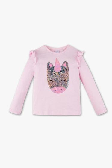 camiseta de unicornio rosa delante