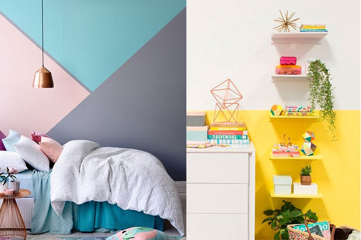 Ideas para crear una decoración 'color block' en tu hogar