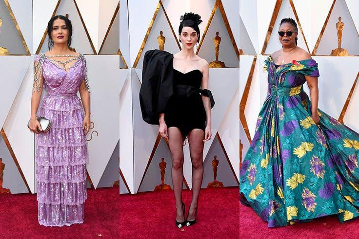 Las peor vestidas de los Oscar 2018