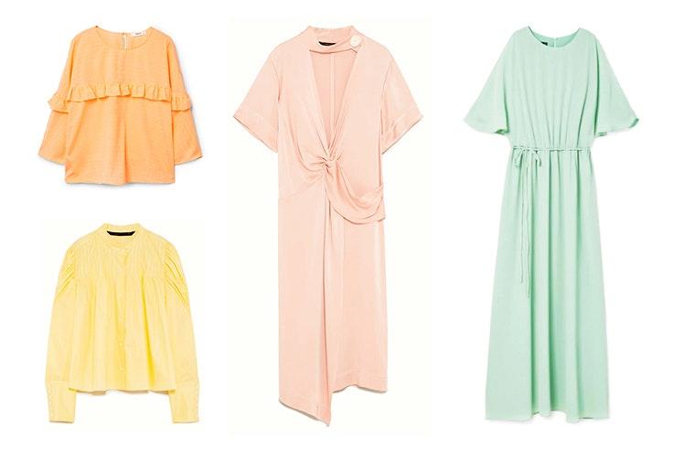 Camisas y vestidos en tonos pastel