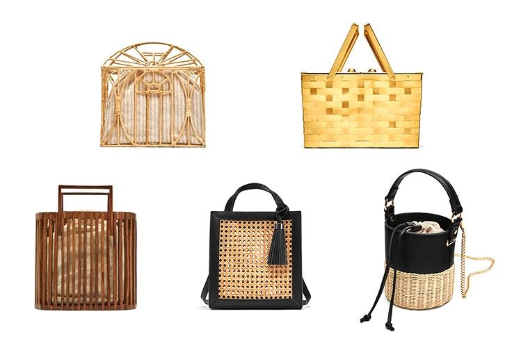 Bolsos de cesta de la tienda Zara