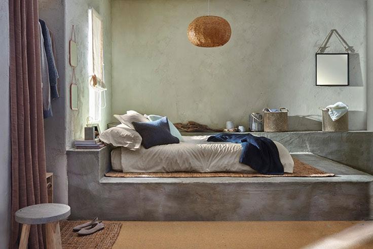 Dormitorio con toque rústico de Leroy Merlín