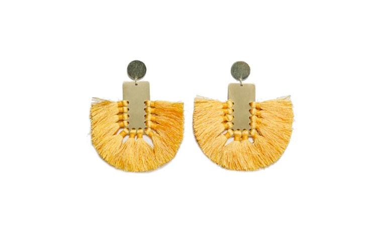 pendientes flecos Mango