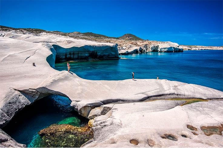 Playa de Sarakiniko (Grecia)
