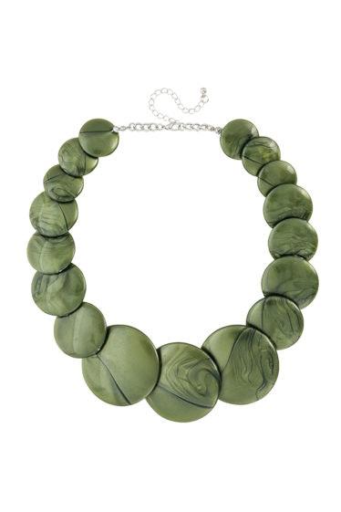collar verde bijou