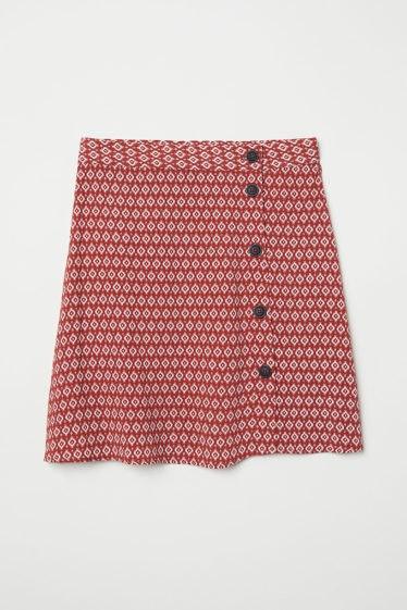 falda de crepe h&m