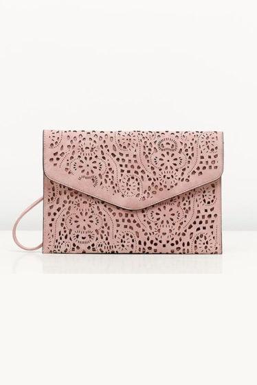 bolso sobre rosa misako