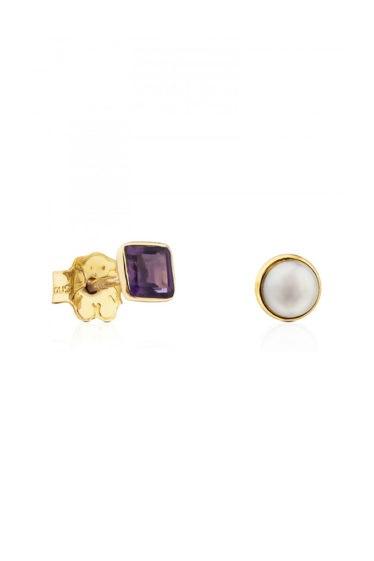 pendientes perla amatista