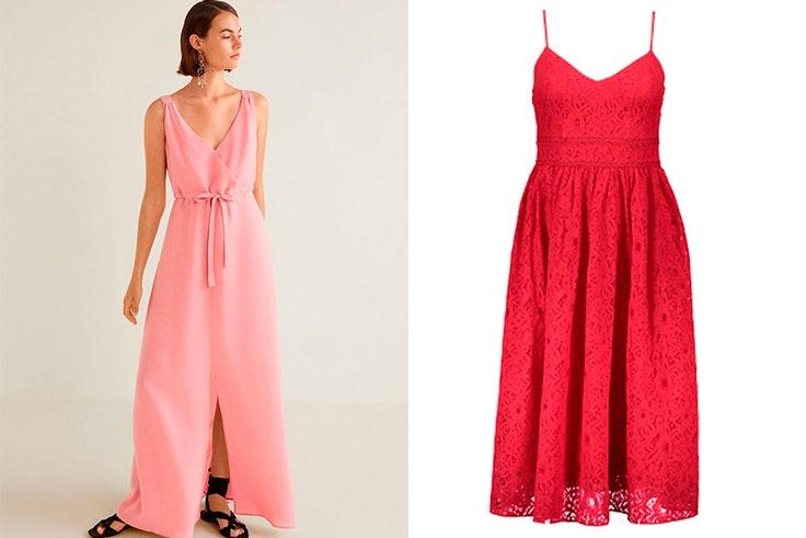 Vestido de Mango (49,99€) / Vestido New Yorker (29,95€)