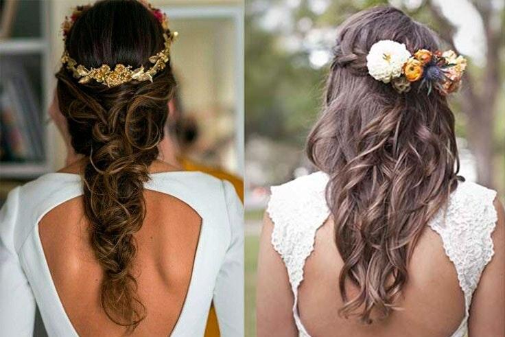 peinados boda pelo largo