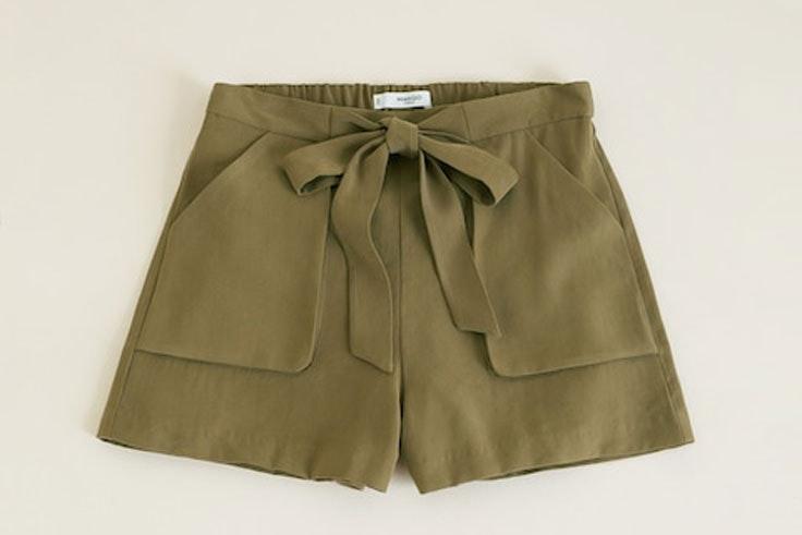 pantalon-corto-verde-kaki-mango