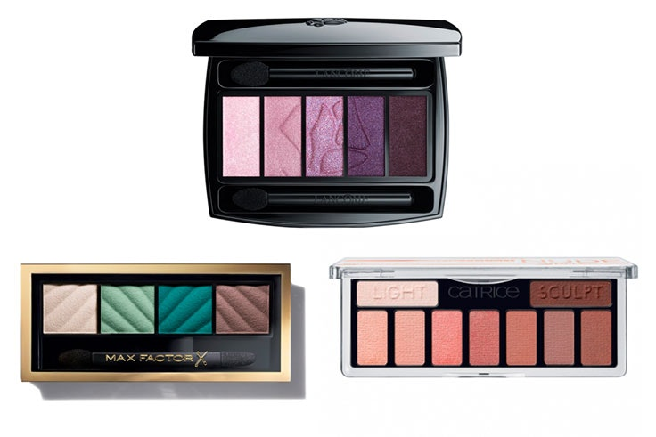 Max Factor Paleta de sombras Smokey Eye Matte Drama Max Factor (11,99€), Lancôme Hypnôse Palette Sombras De Ojos 5 Colores (57,95€ 47,95€) y Catrice The Fresh Nude Collection Eyeshadow Palette (5,69€) Douglas