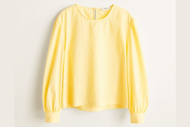 blusa-amarilla-manga-abullonada-mango