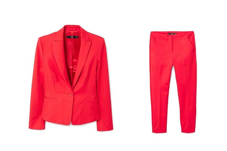 traje de chaqueta monocolor mango