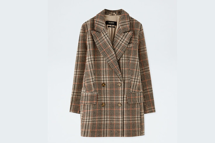 chaqueta-americana-blazer-estampado-de-cuadros-pull-and-bear